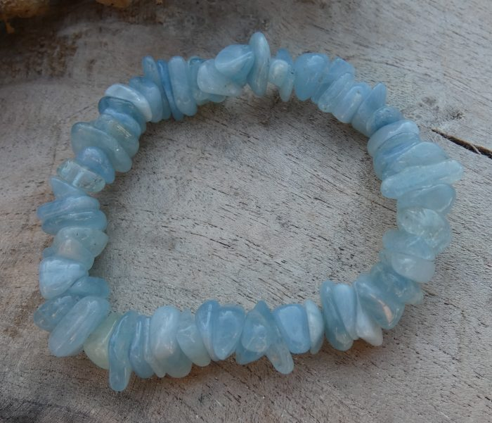 Aquamarijn split armband