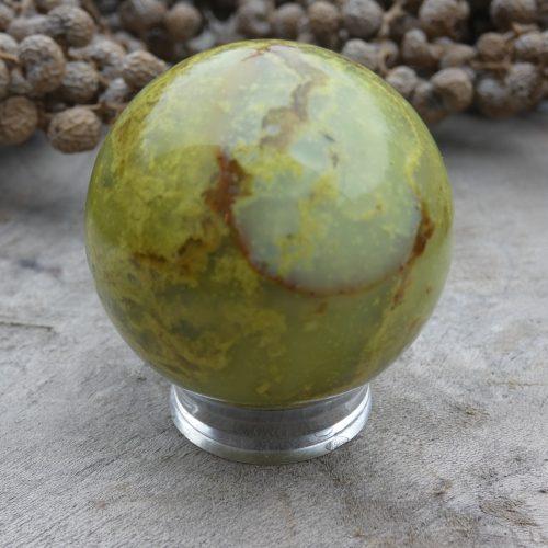 Groene opaal bol