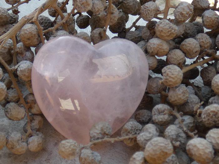 Rozenkwarts hart