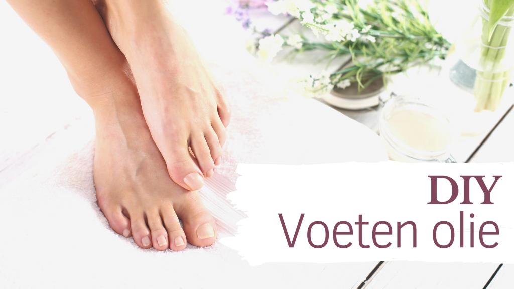 DIY olie voor vermoeide voeten